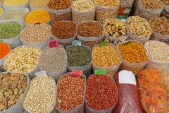 Nuts market Stock Image