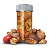 Nuts Medicine Concept Stock Photos