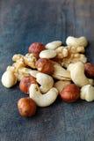 Nuts mix. Mix nuts - almonds, cashews hazelnuts walnuts stock photo