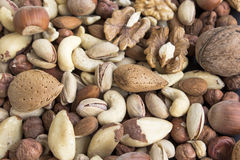 Nuts Mix as Background Royalty Free Stock Photos