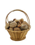 Nuts Mix In A Basket Stock Photos