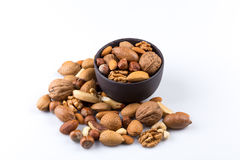 Nuts mix in bowl Royalty Free Stock Images