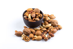 Nuts mix in bowl Royalty Free Stock Photo
