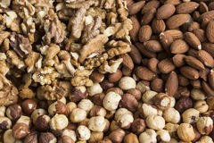 Nuts Mix Closeup. As a Background royalty free stock photo