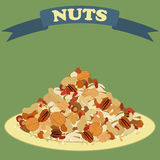 Nuts mix Stock Image
