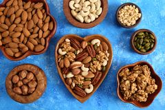 Nuts mix stock images