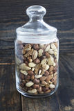 Nuts Mix in a Glass Jar.  stock photography