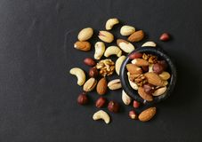 Nuts mix for a healthy diet Stock Images