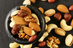 Nuts mix for a healthy diet Stock Photography
