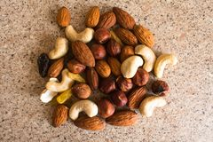 Nuts mix for a healthy diet royalty free stock image