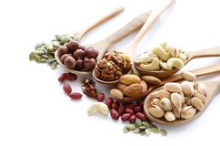 Nuts mix for a healthy eating Royalty Free Stock Photos