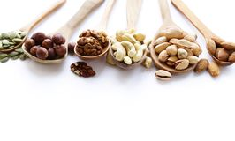 Nuts mix for a healthy eating Stock Photos