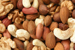 Nuts mixed Stock Image