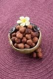 nuts. mixed nuts on the background Royalty Free Stock Image
