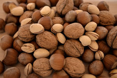 Nuts mixed for backgrounds Stock Images