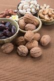 nuts. mixed nuts on the background Stock Photography