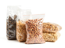 Nuts and mulberry in package Stock Images