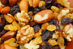 Nuts nad raisins Stock Image