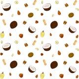 Nuts nahtloses Muster stockfoto