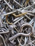 Nuts, nails, screws, and hooks Stock Image