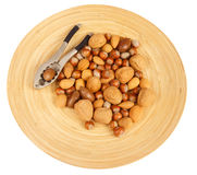 Nuts and nutcracker Royalty Free Stock Image