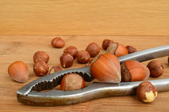Nuts and nutcracker Royalty Free Stock Photography