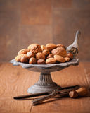 Nuts With Nutcrackers Stock Photography