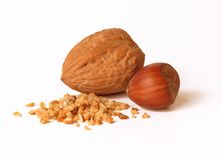 Nuts and nuts. Royalty Free Stock Photography