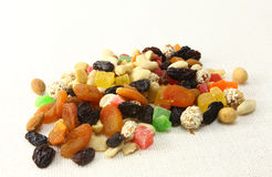 Nuts och torkad fruktmix Fotografering för Bildbyråer