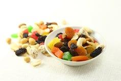 Nuts och torkad fruktmix Royaltyfri Fotografi