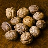 Nuts and organic products Royalty Free Stock Photos