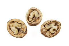 Nuts over white isolated background Royalty Free Stock Photos