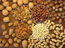 Nuts pattern Stock Photo