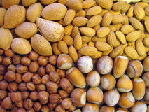 Nuts pattern stock images