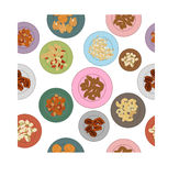 Nuts pattern Stock Photography