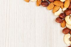 Nuts pattern royalty free stock photo