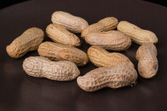 Nuts. Peanut in peel royalty free stock photography