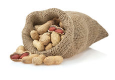 Nuts peanuts on white Stock Photos