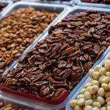 Nuts Pekannuss Stockfotos