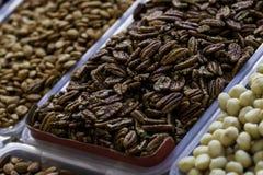 Nuts Pekannuss auf dem Markt Lizenzfreie Stockfotografie