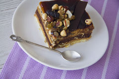 Nuts pie Stock Images