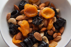 Nuts and pruns Royalty Free Stock Photo