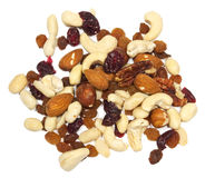 Nuts with raisins Royalty Free Stock Photo