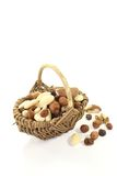 Nuts and raisins as a snack Royalty Free Stock Photo