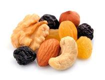 Nuts and raisins. Stock Photo
