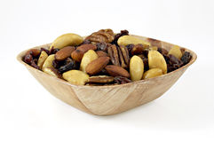 Nuts, raisins, figs and almonds. In bowl Royalty Free Stock Photo