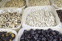 Nuts and Raisins Royalty Free Stock Photos