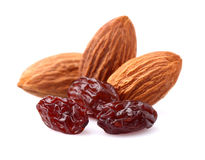Nuts with raisins Royalty Free Stock Image