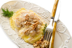 Nuts ravioli Royalty Free Stock Images
