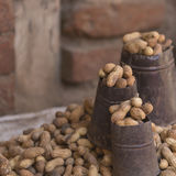 Nuts for sale in Nepal street. Royalty Free Stock Image